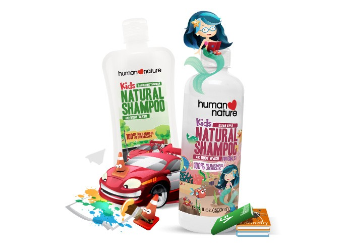 Kids Natural Shampoo & Body Wash for Boys & for Girls